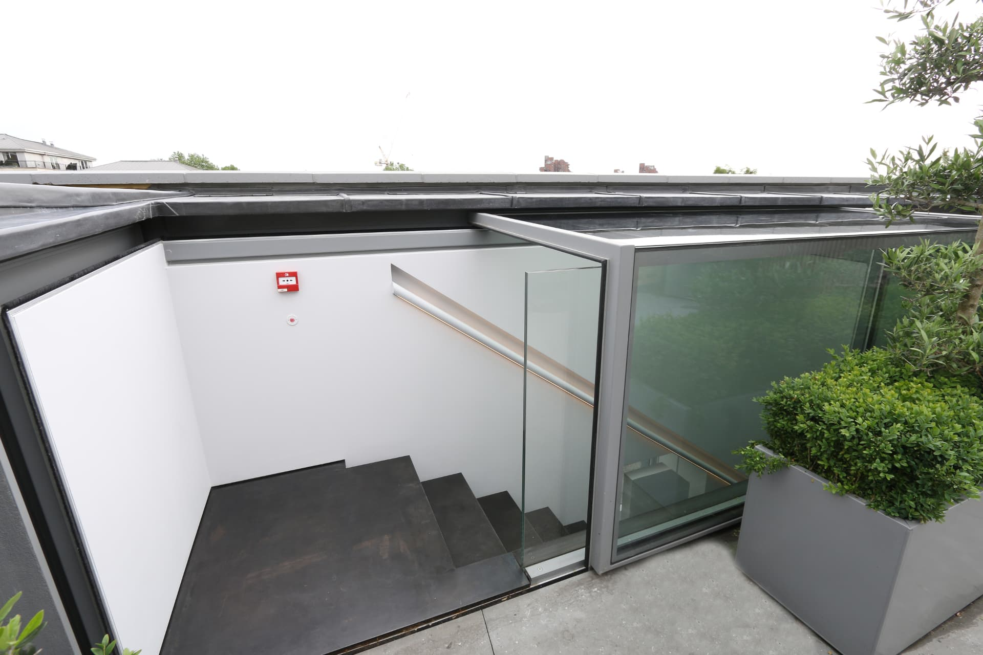 Automated Roof Access Glass Box