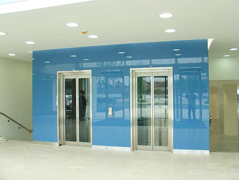 Coloured Cladding in Light Blue