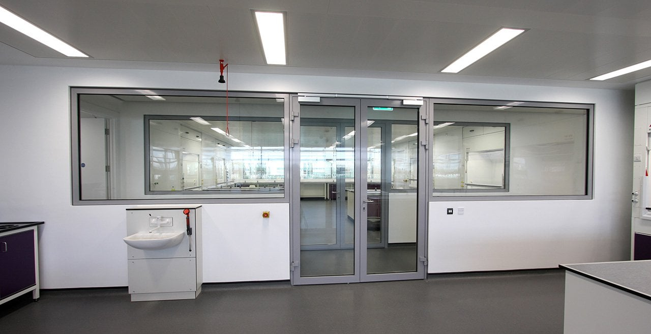 Fire Rated Glass to a Laboratory