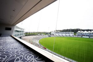 Structural Glass Facade to modern cricket ground renovation