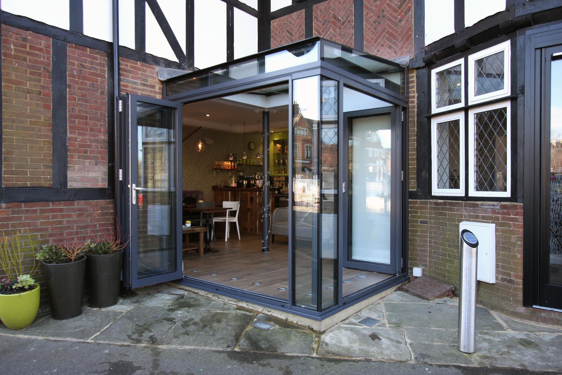 Glass Box Extension Bi Fold Doors