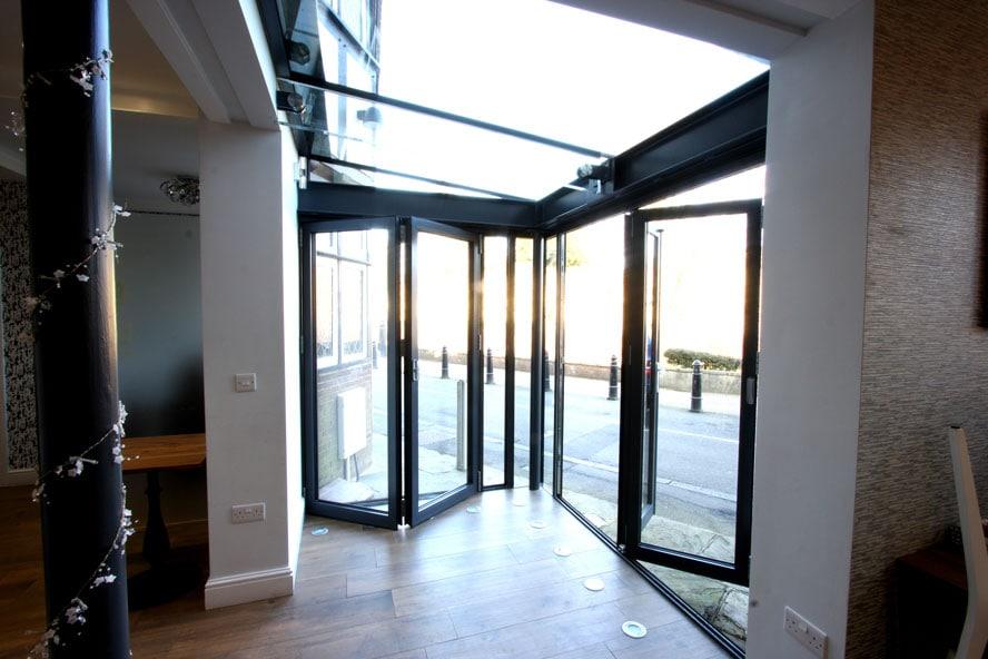 Glass Box Extension Bi Folding Doors