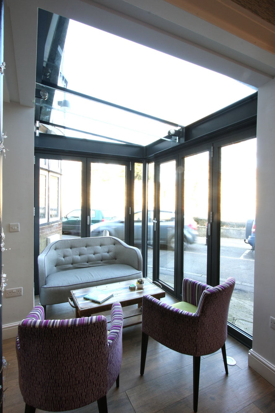 Glass Box Extension Furnished Interior