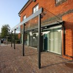 Glass Canopy to Hospital Entrance