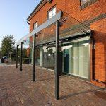 Glass Canopy to Hospital Entrance