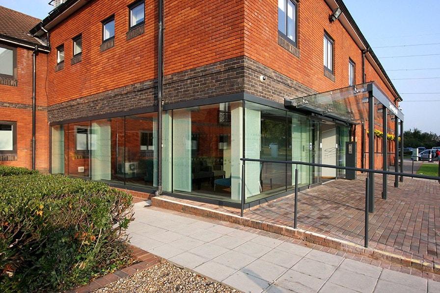 Glass Entrance to a Hospital