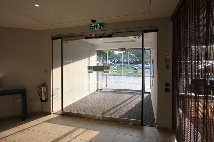 Glass Exit to a Hospital