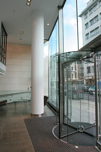 Glazed Revolving Door