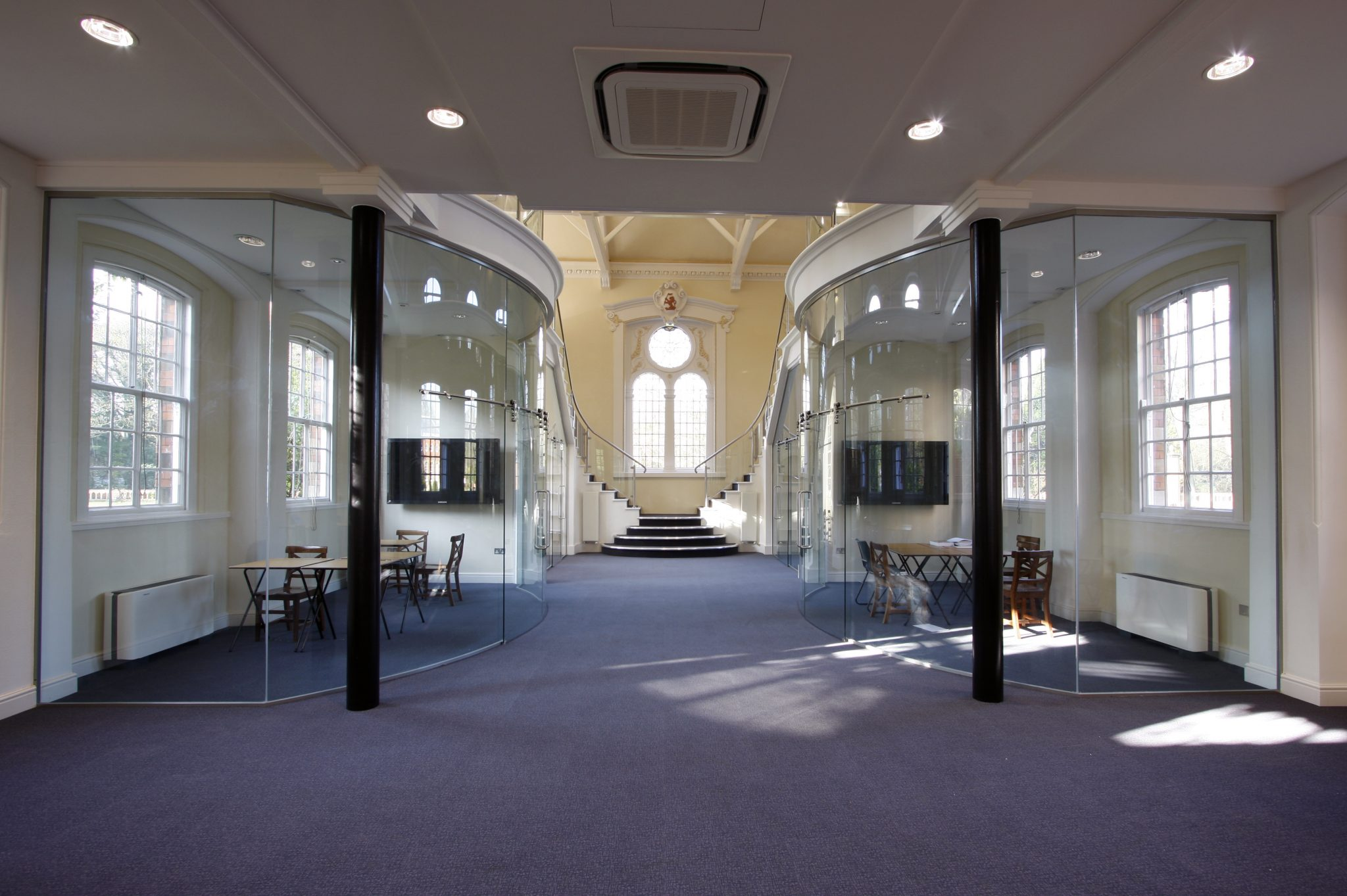 Internal Curved Glazing Partitions