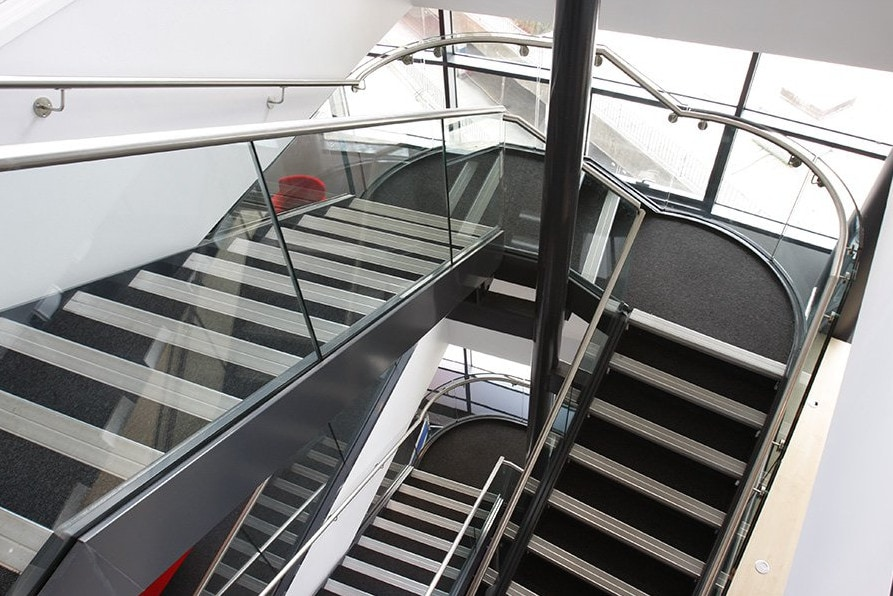 Glass Balustrades to a Staircase