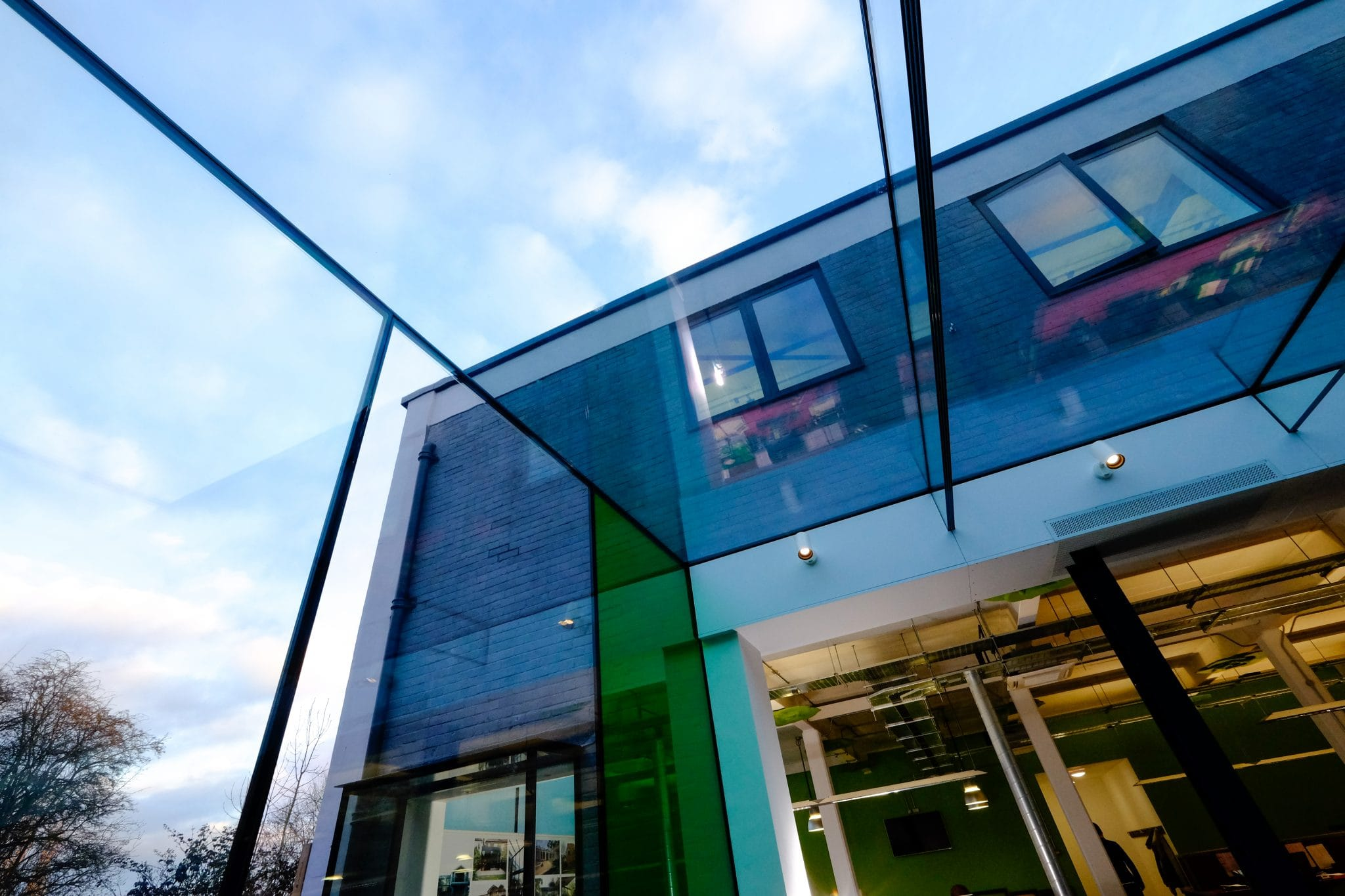 frameless structural glass roof