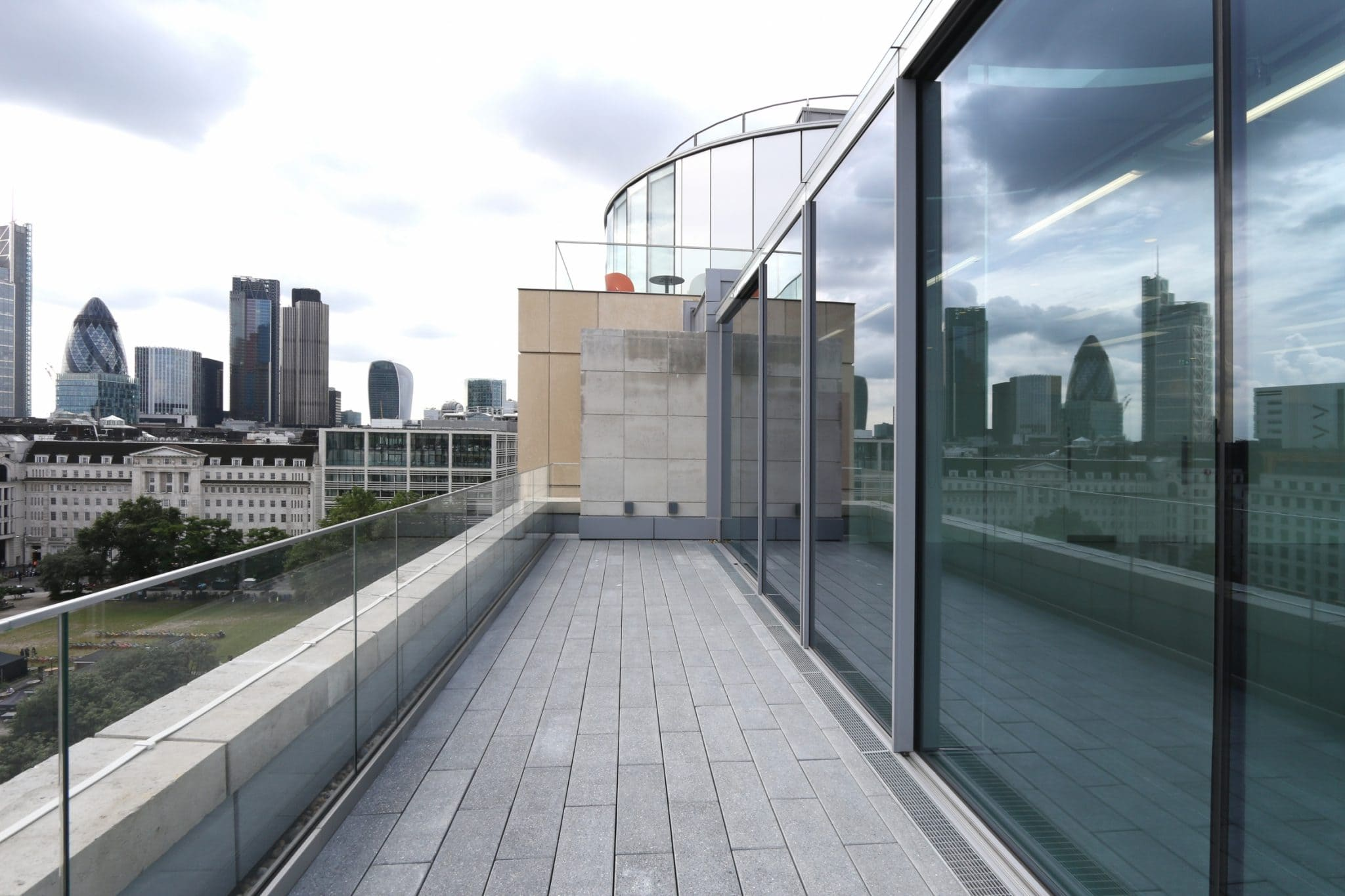 Rooftop Glass Facade