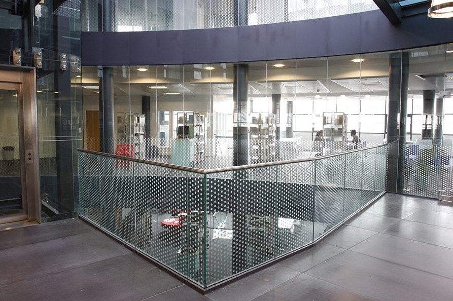 Sandblasted Glass Balustrades