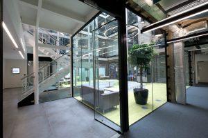 Structural Glass Pivot Door