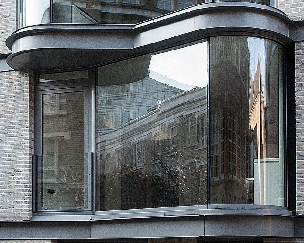 curved glass window