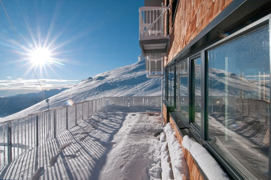 thermal break, insulated sliding glass windows in cold snow environment