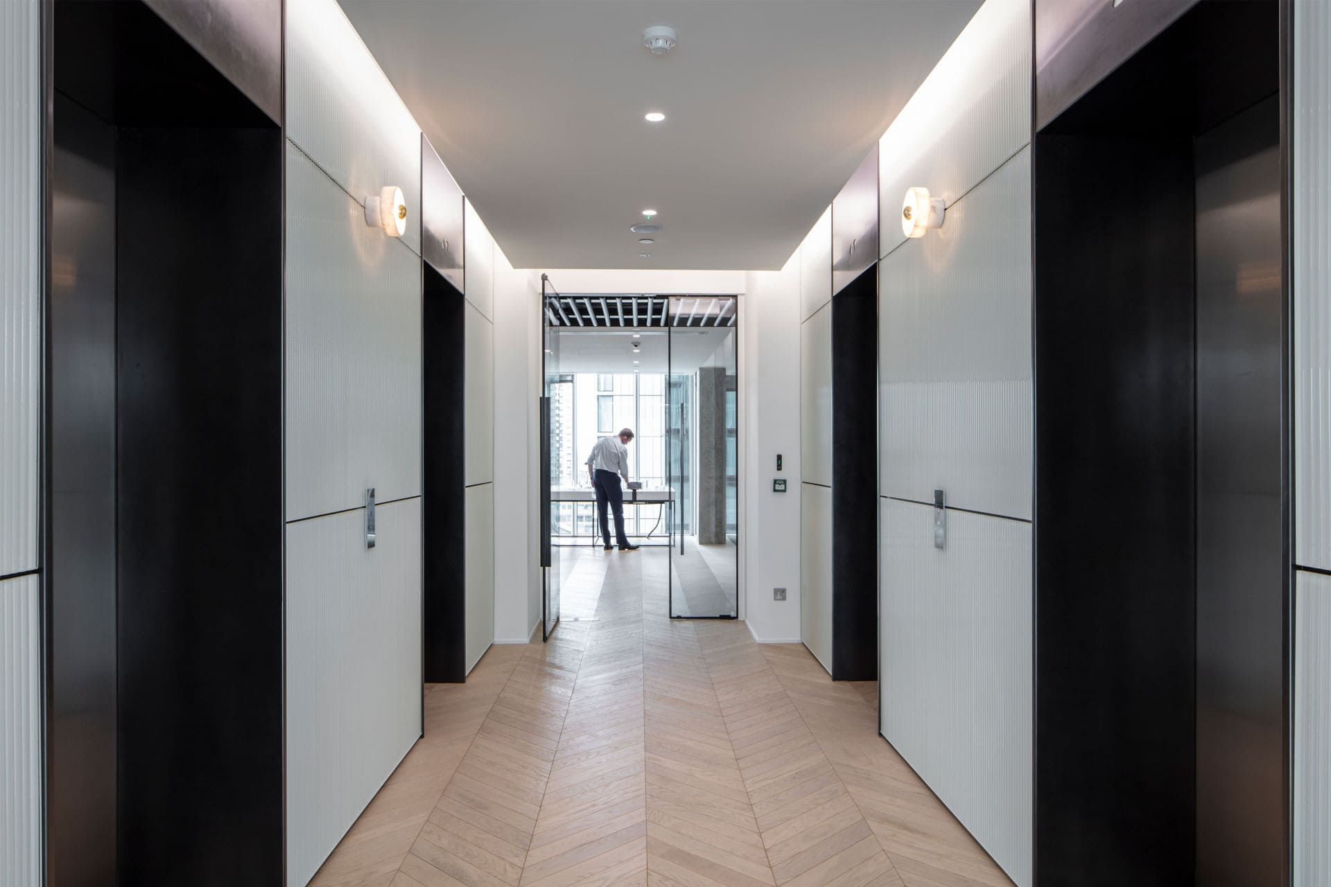 internal office corridor