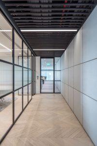 Internal steel fire rated office door