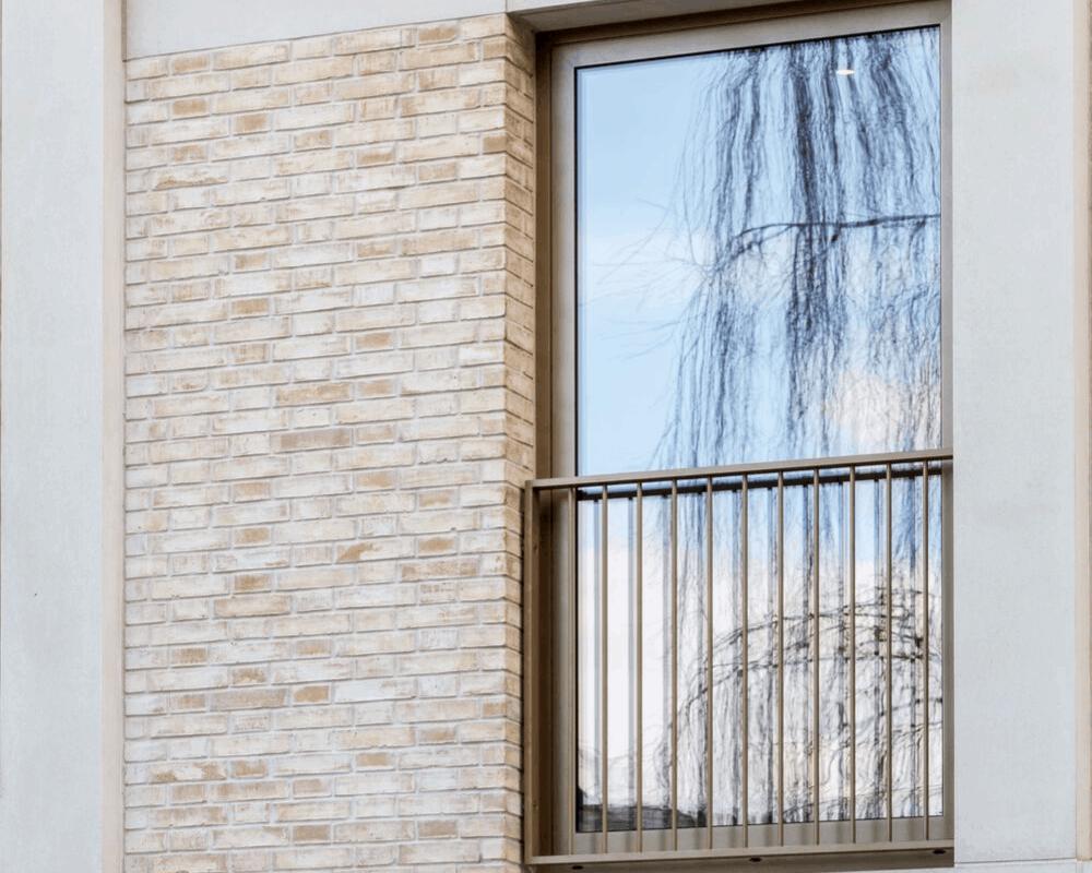 Schueco aluminium glazing finished in bronze