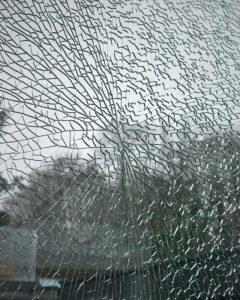 Shattered glass window NSI