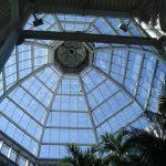 Glass dome atrium