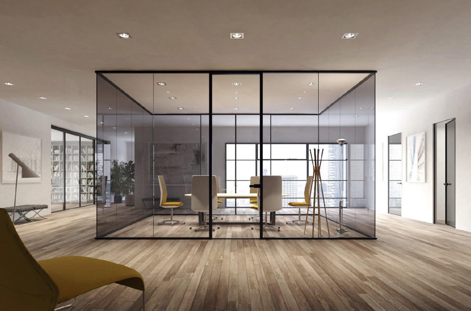 internal glass office screens