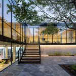 modern glass office facade with MHB steel glazing