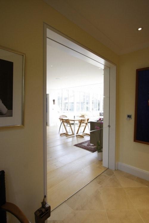 frameless internal glass door