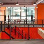 Art deco steel double door with glazing bars
