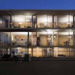 Modern minimal glass head offices