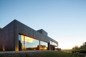 minimal glass facade modern hotel