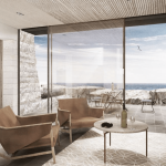Luxury clifftop holiday home featuring IQ structural glass