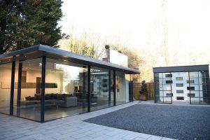 aluminium glazing showroom
