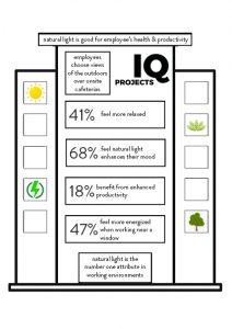 natural light infographic explaining the mental and physical benefits of natural light