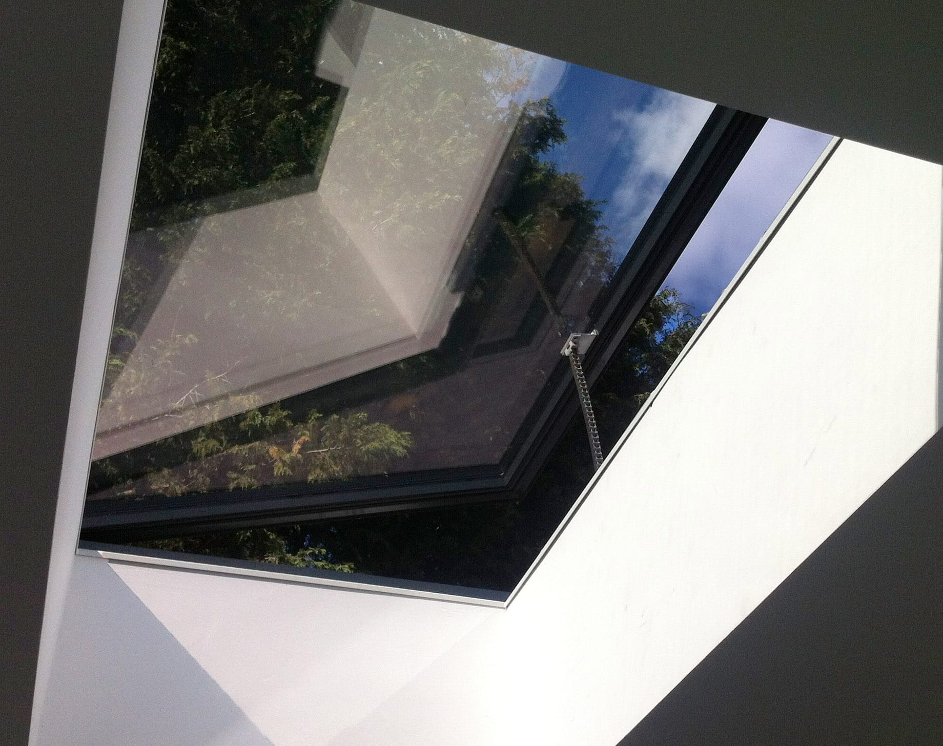 commercial ARES venting rooflight by IQ Glass
