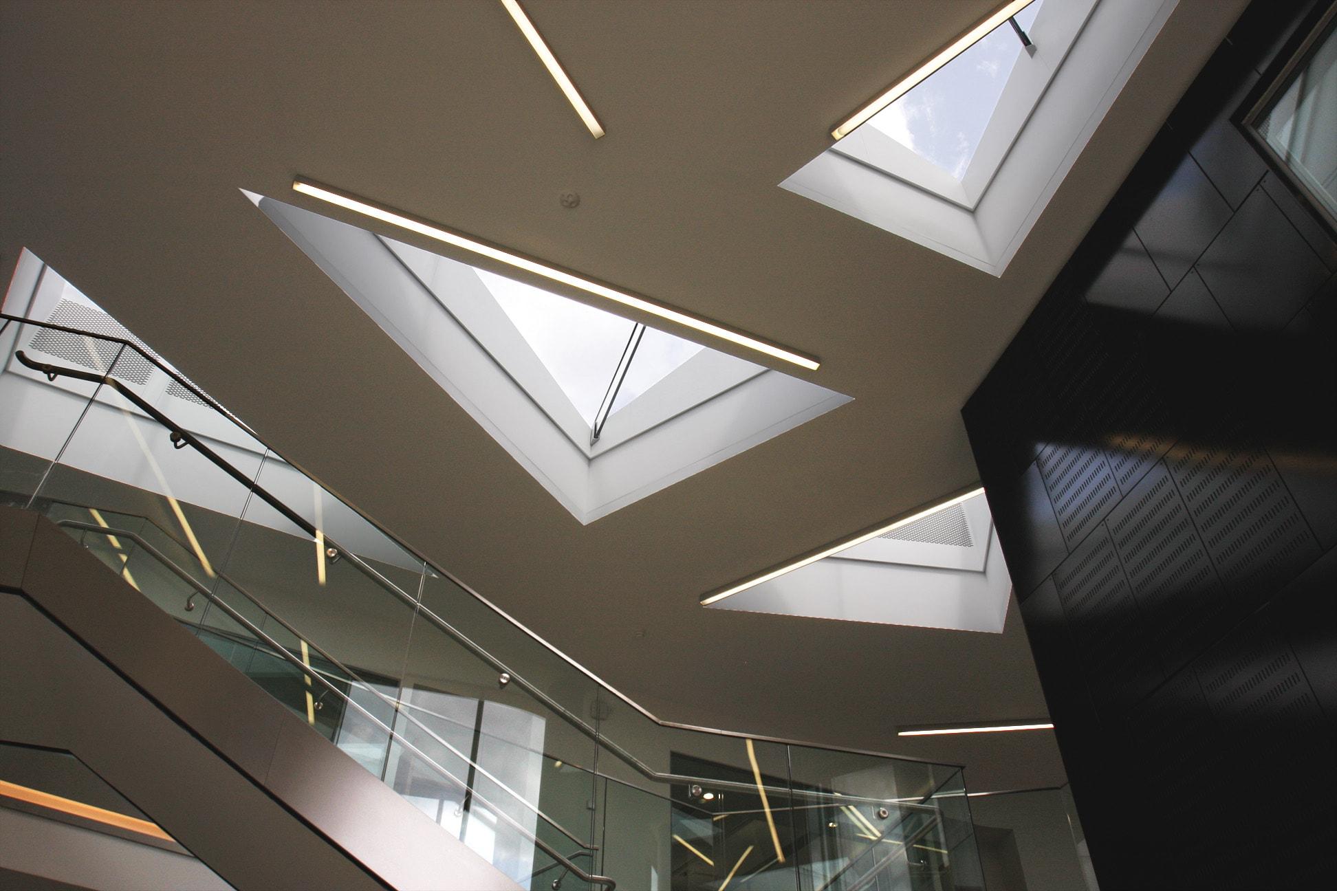 Bespoke triangular rooflight systems