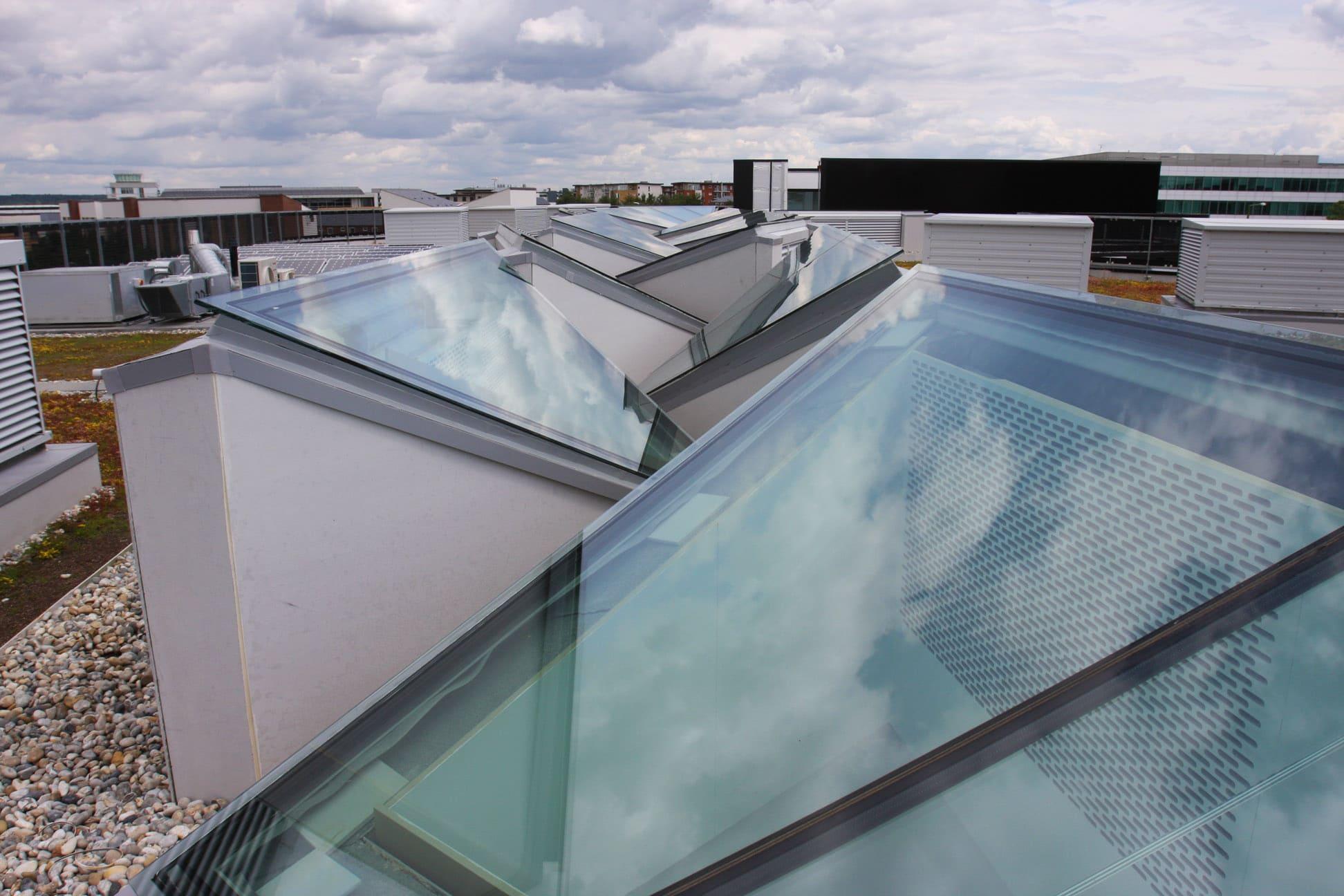 Bespoke venting rooflight in triangular configuration