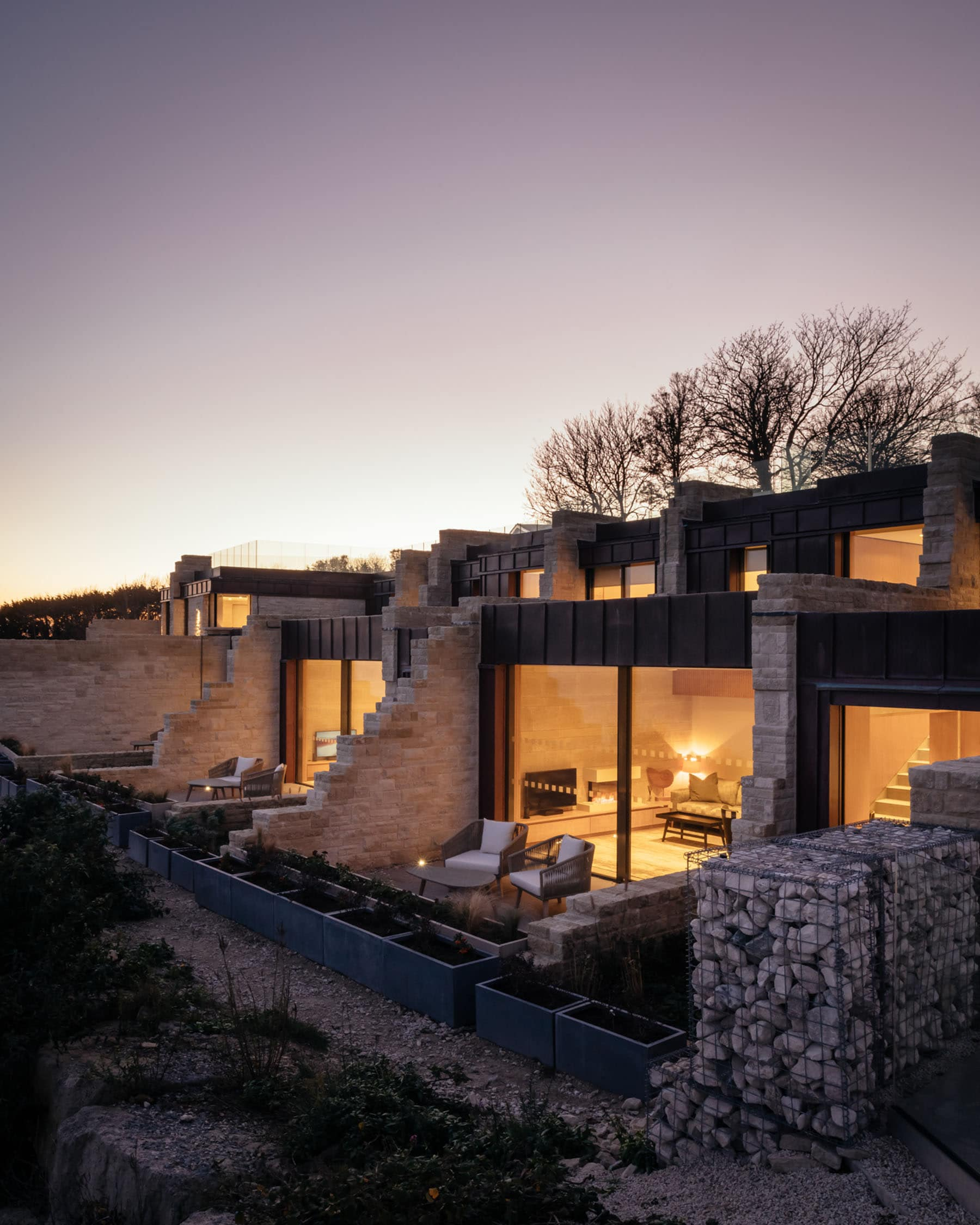 Coastal properties with slim framed sliding glass doors
