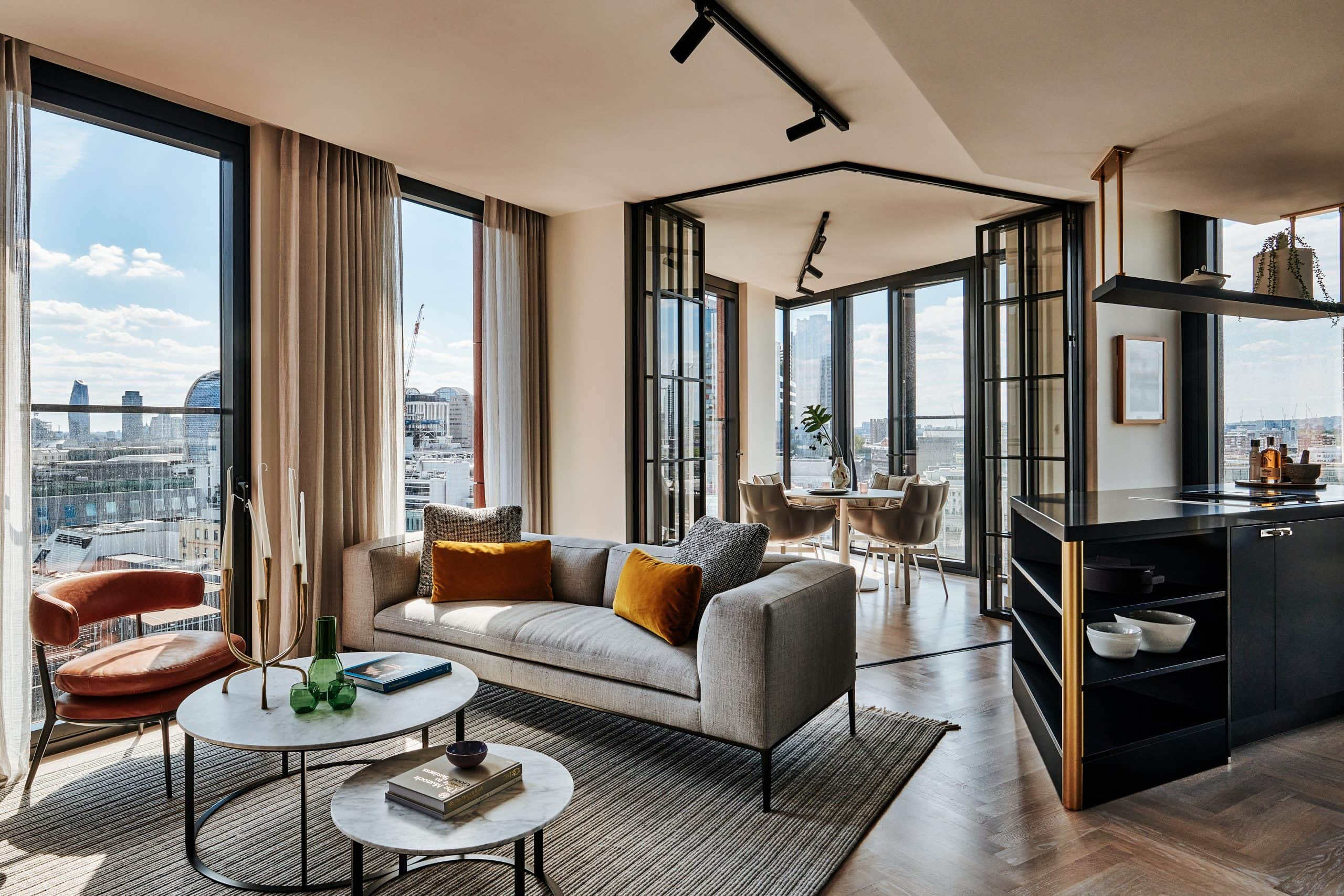 one crown place - new residential development in London with internal bifold doors