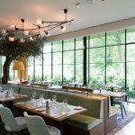 modern restaurant renovation with bespoke steel glazing