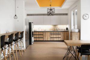 Comfortable modern canteen design for small contemporary company
