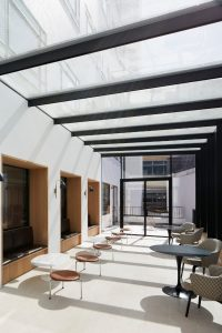 structural glass roof in award-winning project Saville row