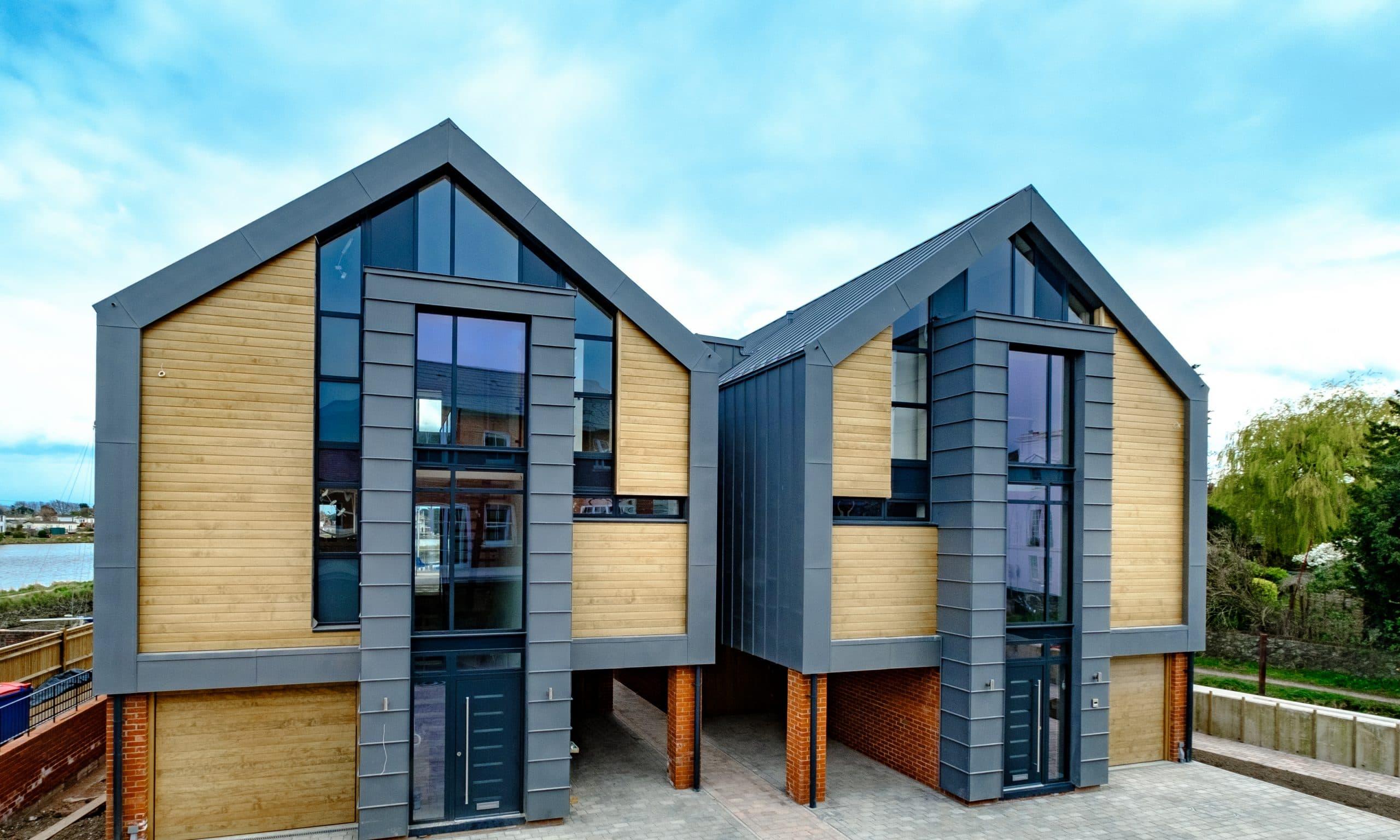 coastal contemporary residential development using slim framed aluminium glazing