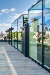 electrochromic glass on london building