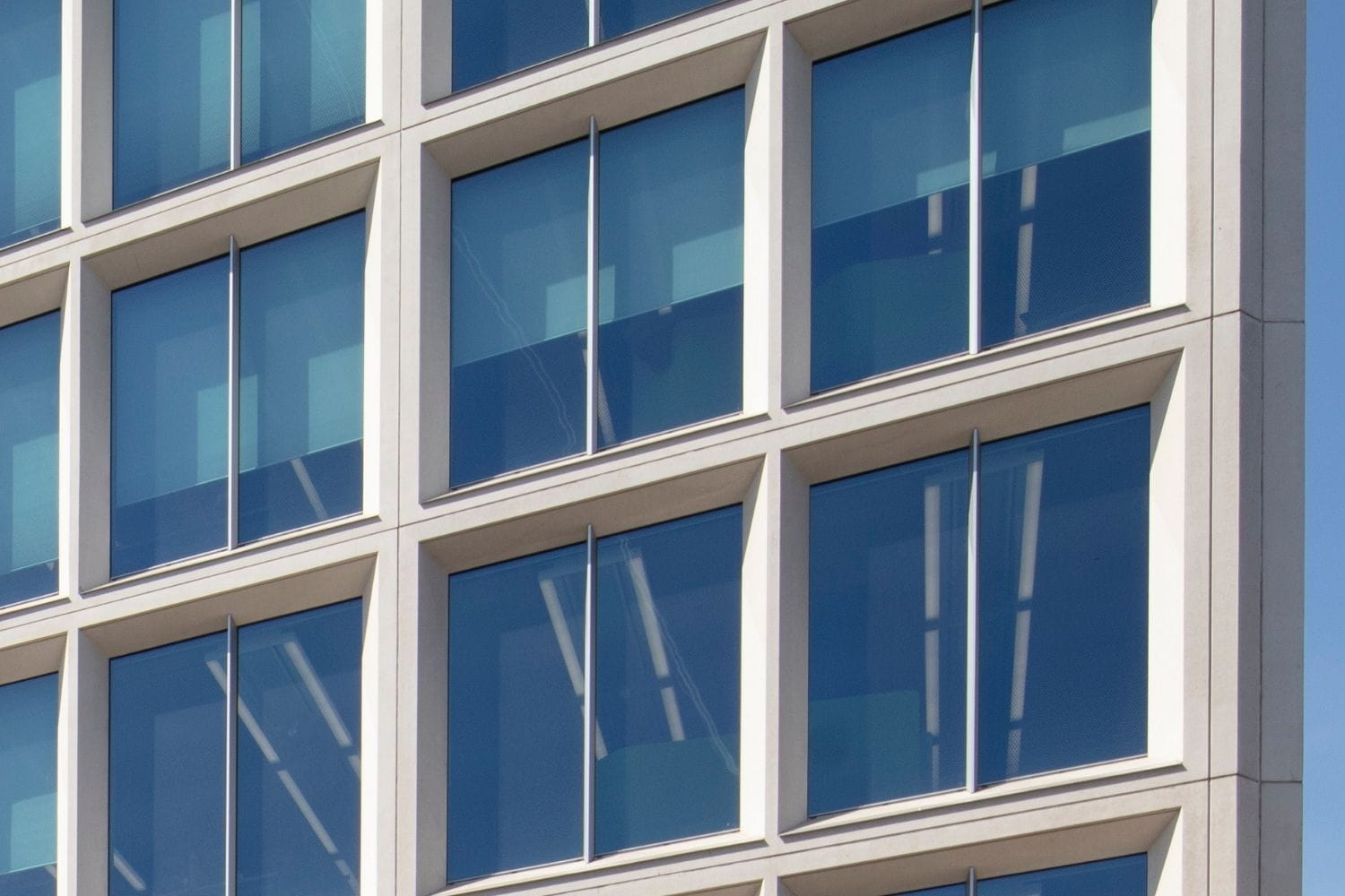 electrochromic glass with slight blue tint on the Lambeth Civic Centre in London