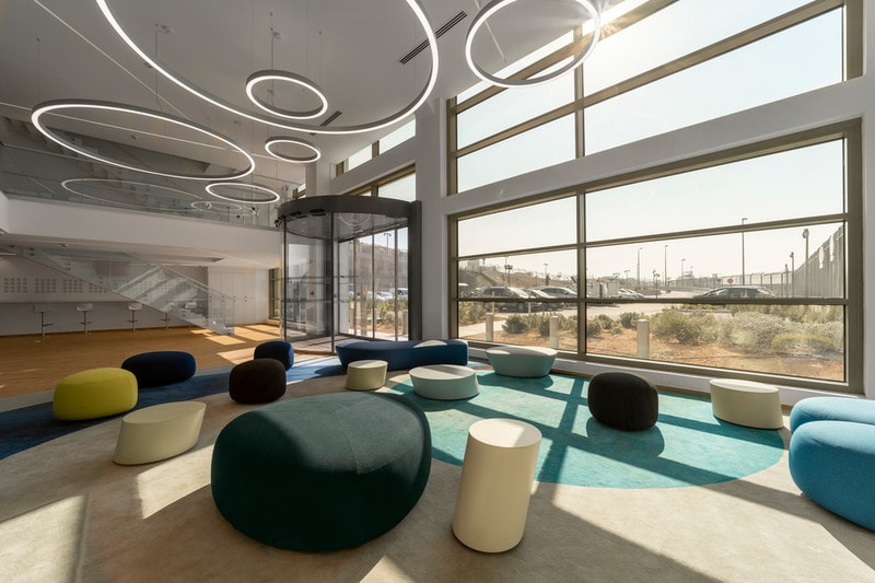 Interxion - Marseille large commercial offcie in France using electrochromic glass as a solar shading solution