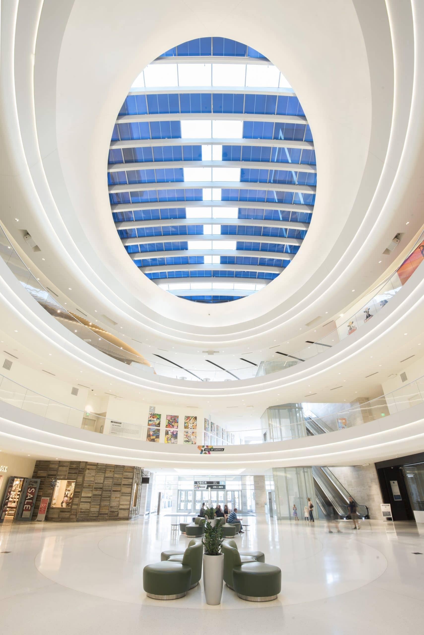 Mall of America Elctrochromic Glass Cieling