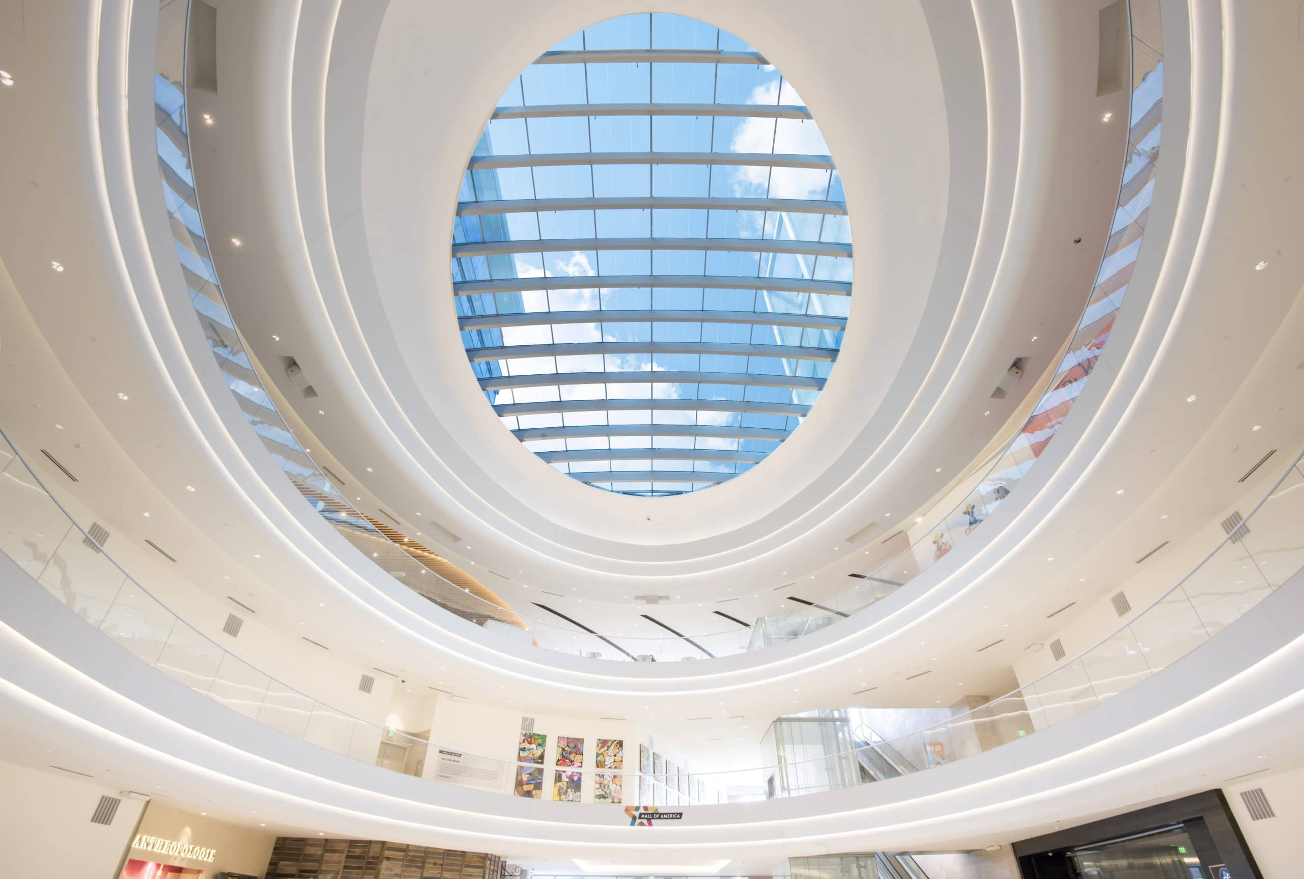 Mall Of America Electro Chromic Glass Roof
