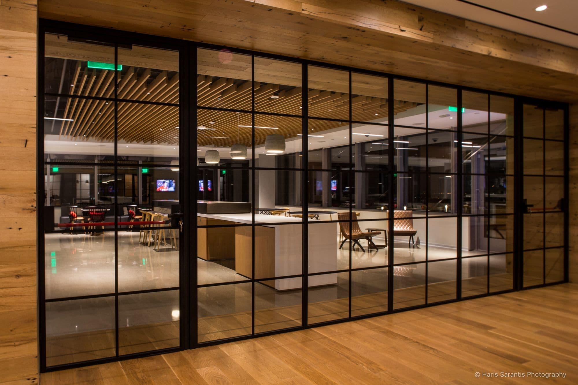 steel look internal fire rate glass partitions and door