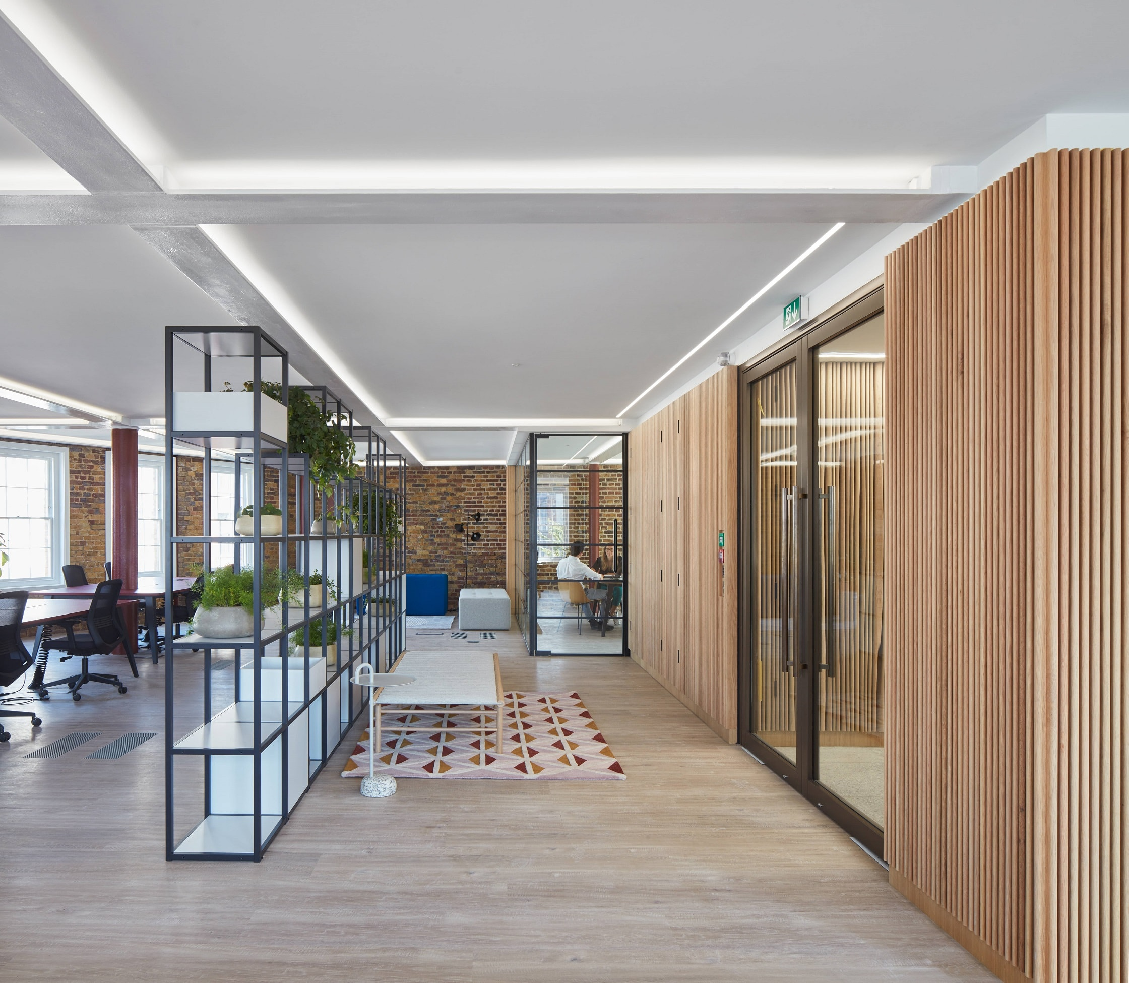 Fire rated casement doors in a London office